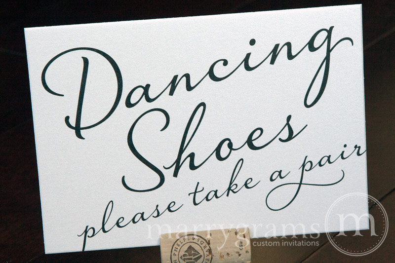 Dancing Shoes Flip Flop Basket Sign Diagonal Style