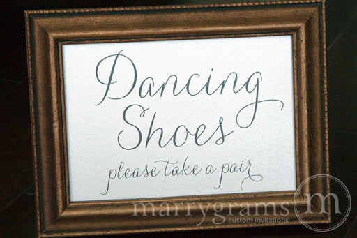Dancing Shoes Flip Flop Basket Sign Thin Style