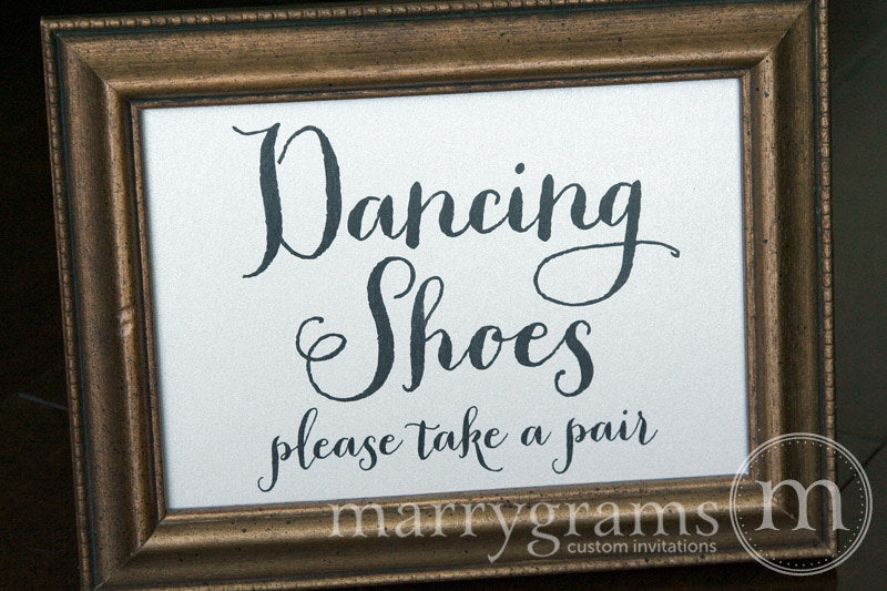 Dancing Shoes Flip Flop Basket Sign Thick Style