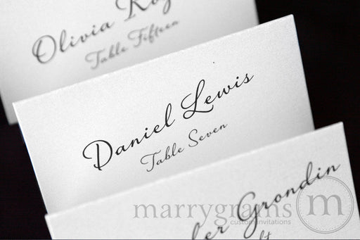 Reception Escort Cards Diagonal Style