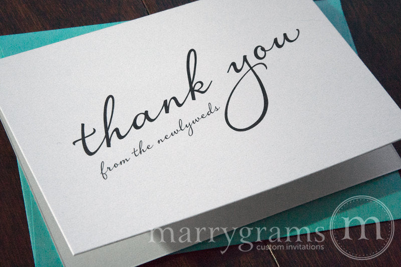 Thank You from the Newlyweds Card Diagonal Style