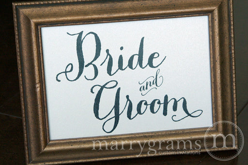 Bride and Groom Sweetheart Table Sign Thick Style rustic outdoor wedding