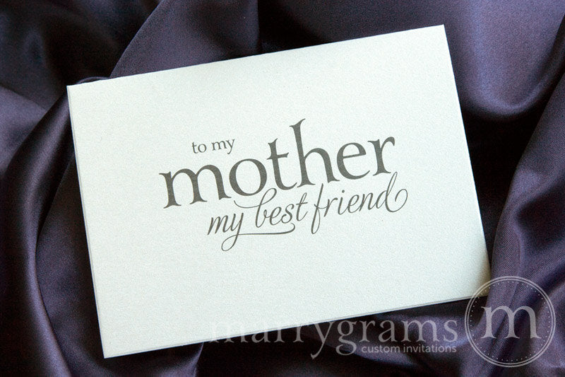 To My Mother My Best Friend Wedding Card Serif Style