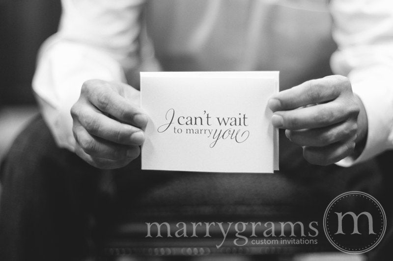 I Can't Wait To Marry You Wedding Day Card