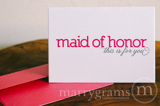To My Bridal Party Wedding Day Card Color Block Style