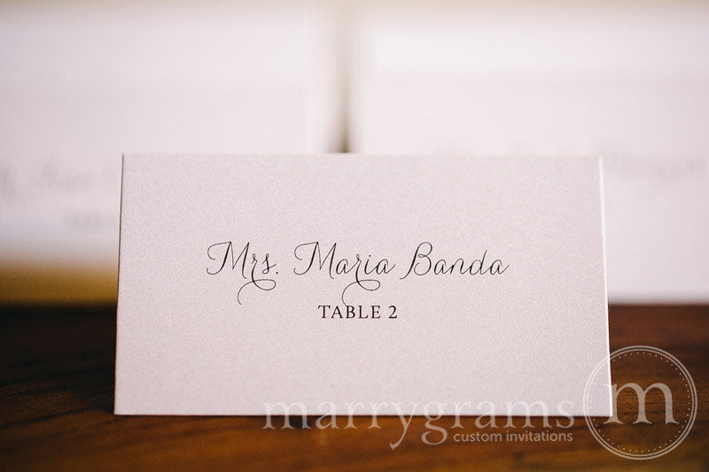 Reception Escort Cards Thin Style