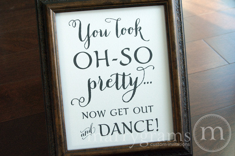 Oh-So Pretty Women's Restroom Wedding Sign Thick Style