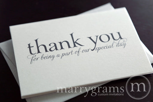 Our Special Day Vendor Thank You Card Serif Style