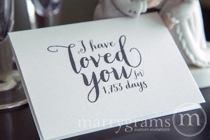 I Have Loved You For Number of Days Card Thick Style