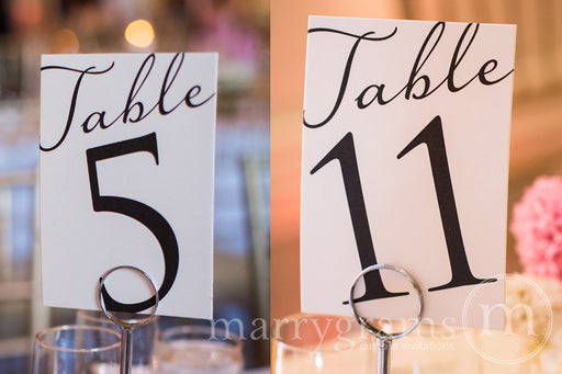 Numerical Wedding Table Number Signs Diagonal Style