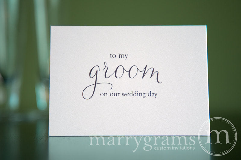 To My Bride or Groom Wedding Day Card Thin Style
