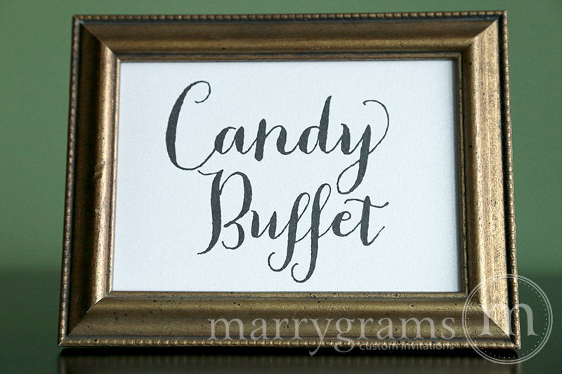 Candy Buffet Wedding Reception Sign Thick Style