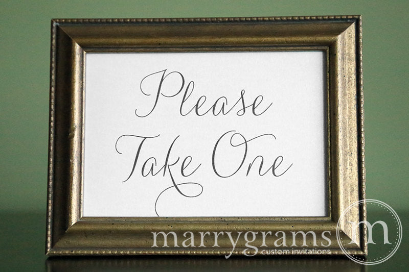 Please Take One Wedding Sign Thin Style
