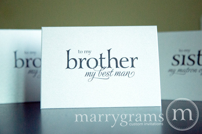 To My Brother My Best Man Card Serif Style