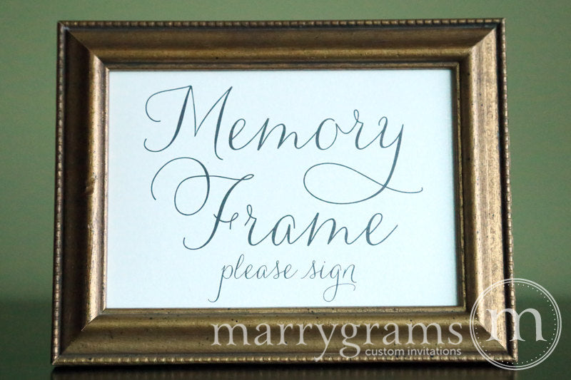 Memory Frame Wedding Guest Book Table Sign Thin Style