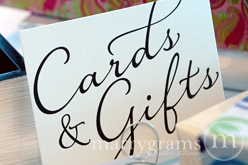 Cards & Gifts Wedding Reception Sign Diagonal Style