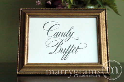 Candy Buffet Wedding Reception Sign Calligraphy Style