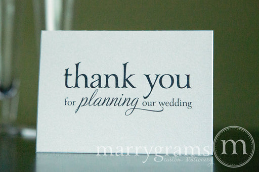 Thank You For Planning Our Wedding Card Serif Style