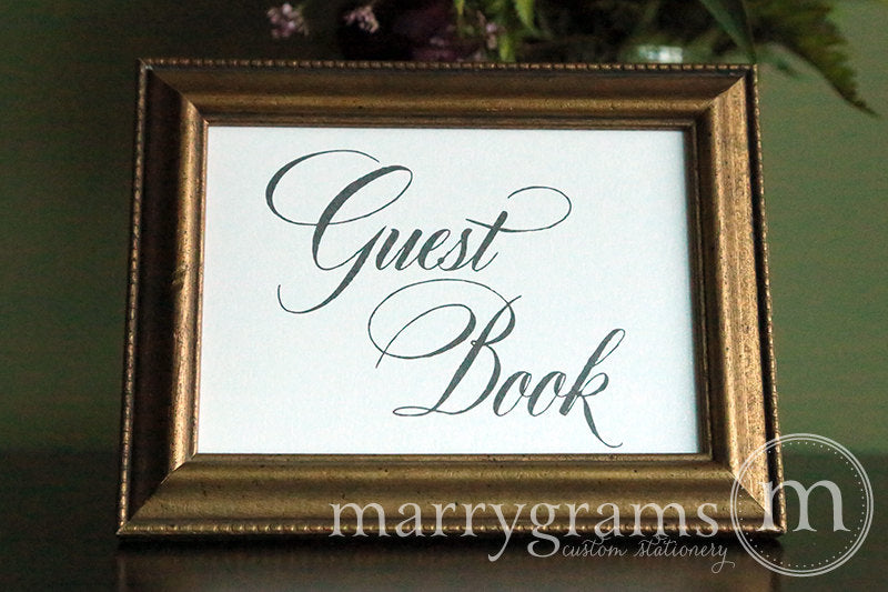 Wedding Guest Book Sign Calligraphy Style
