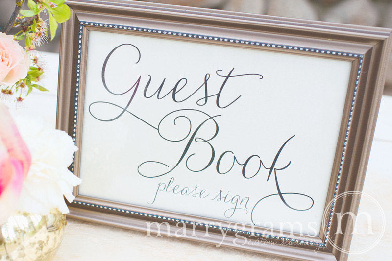 Wedding Guest Book Sign Thin Style