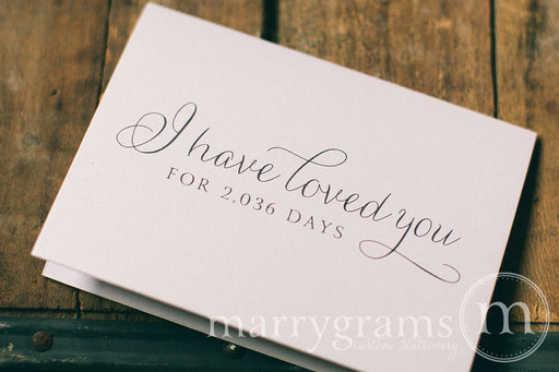 I Have Loved You For Number of Days Card Thin Style