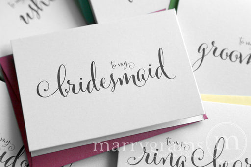 To My Bridal Party Wedding Day Card Whimsical Style