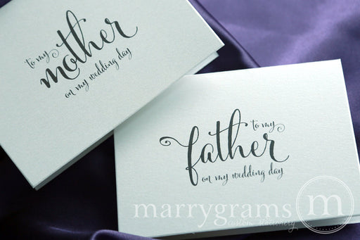 To My Family Mother and Father Wedding Day Card Whimsical Style