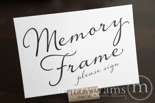 Memory Frame Wedding Guest Book Table Sign Diagonal Style