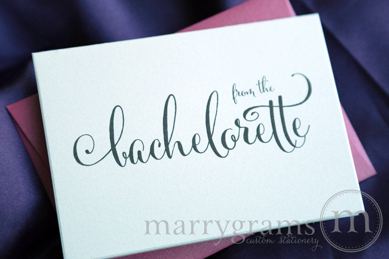 From the Bachelorette Shower Thank You Card Whimsical Style