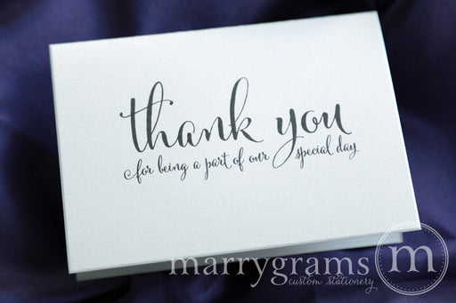 Our Special Day Wedding Vendor Thank You Card Whimsical Style