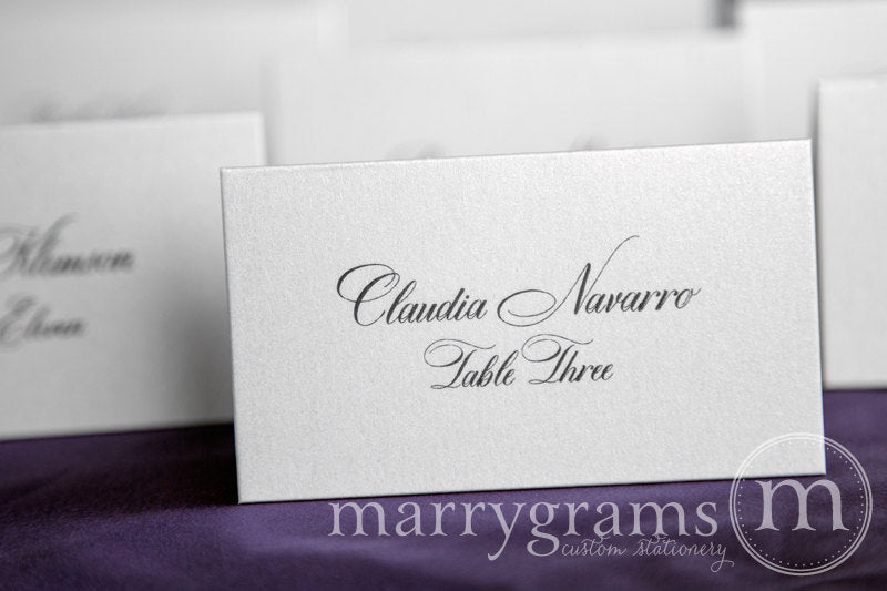 Reception Escort Cards Calligraphy Style