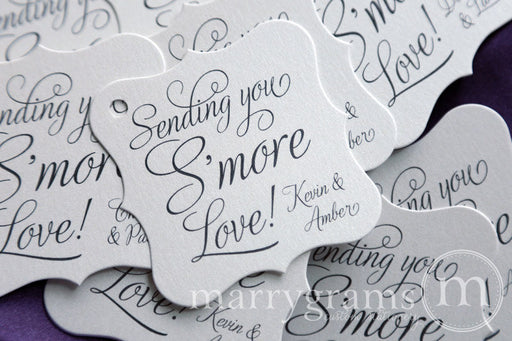 Sending You S'more Love Wedding Favor Tag