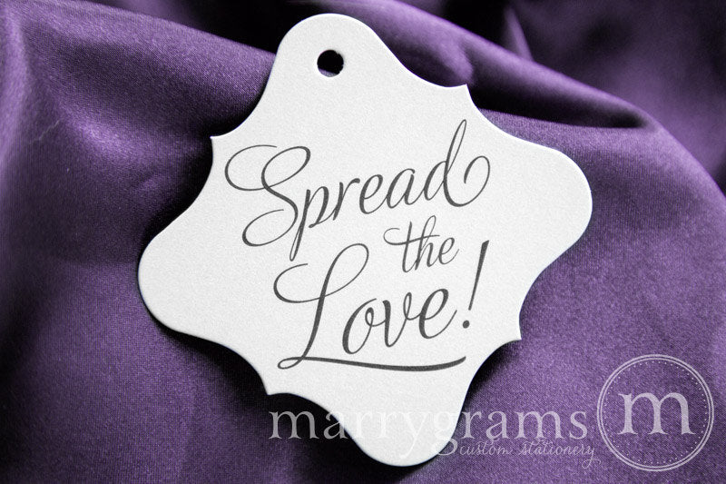 Spread the Love! Wedding Favor Tag