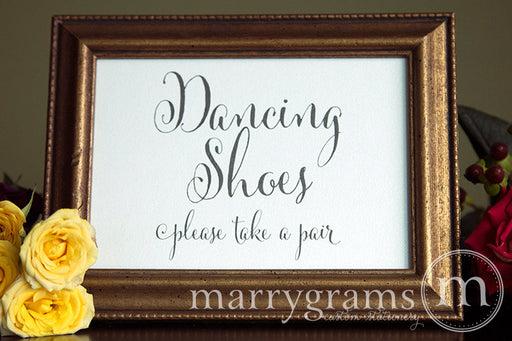 Dancing Shoes Flip Flop Basket Sign Whimsical Style