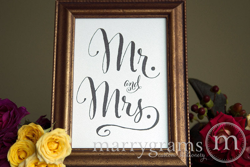 Mr. and Mrs. Sweetheart Table Sign Whimsical Style