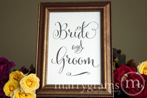 Bride and Groom Sweetheart Table Sign Whimsical Style