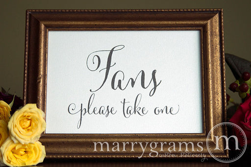 Fans Wedding Sign Whimsical Style