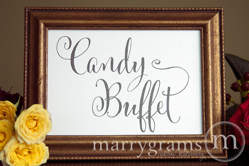 Candy Buffet Wedding Reception Sign Whimsical Style
