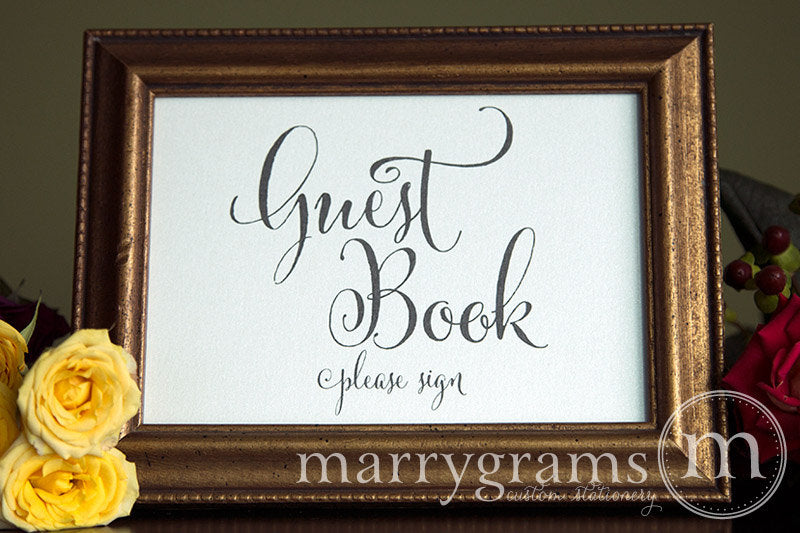 Wedding Guest Book Sign Whimsical Style