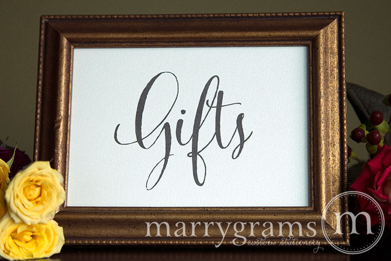 Gifts Wedding Gift Table Sign Whimsical Style