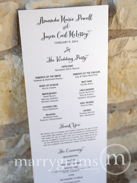 Flat Programs For Wedding Day