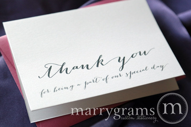 Our Special Day Vendor Thank You Card Handwritten Style