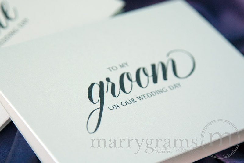 To My Bride or Groom Wedding Day Card Calligraphy Style