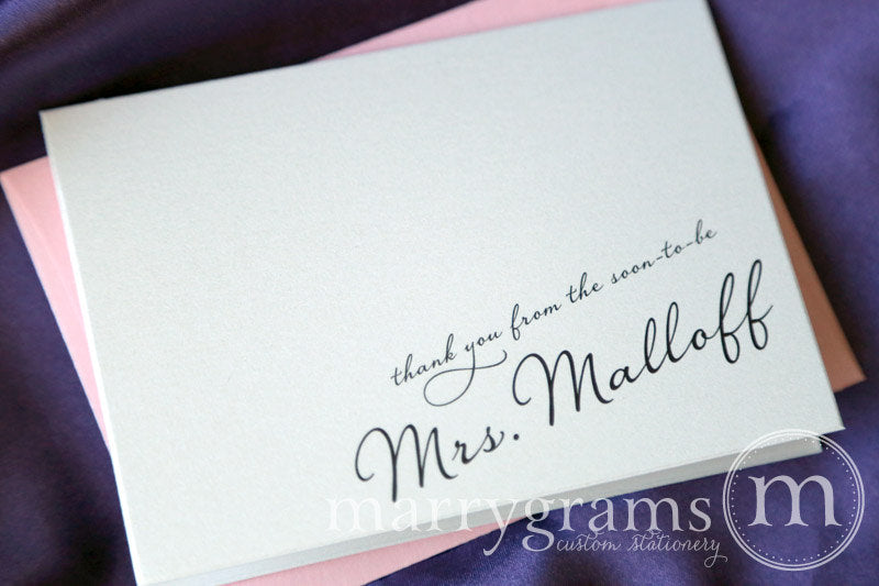 Thank You From The Soon-To-Be Mrs. Custom Card Diagonal Style