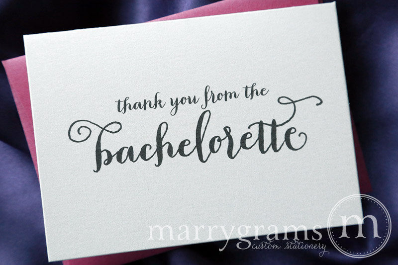 Thank You From The Bachelorette Bridal Shower Card Thick Style