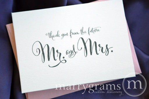 Thank You From the Future Mr. & Mrs. Card Whimsical Style