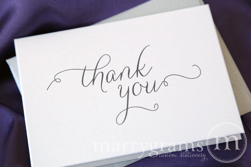 Wedding Thank You Card Thin Style