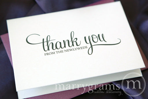 Thank You From The Newlyweds Wedding Note Card