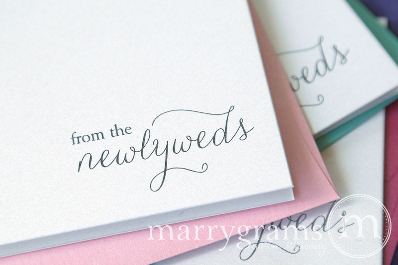 From The Newlyweds Wedding Thank You Card Thin Style