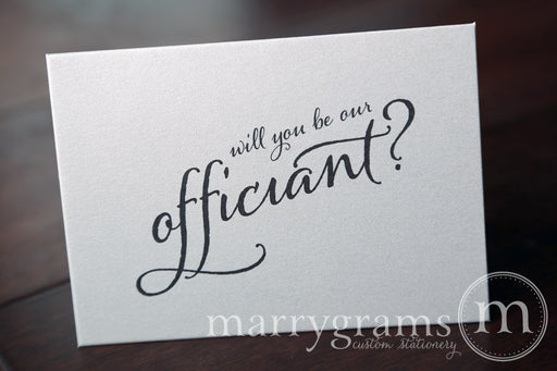 Will You Be Our Officiant Card Flourish Style